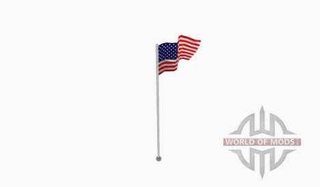 Flag pole USA für Farming Simulator 2015