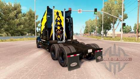 Haut Stars und Volt auf einem Peterbilt 579 Trak für American Truck Simulator