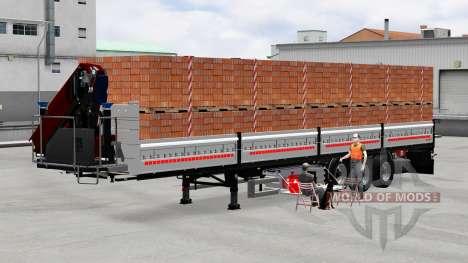 Flachbett-Auflieger mit Ladung für American Truck Simulator