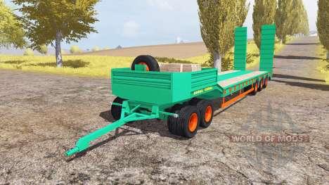 Aguas-Tenias lowboy 5-axis v2.0 pour Farming Simulator 2013