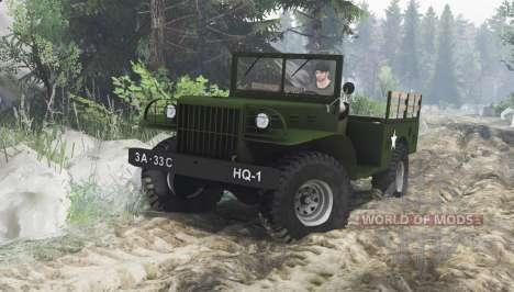 Dodge WC-51 (T214) 1942 für Spin Tires