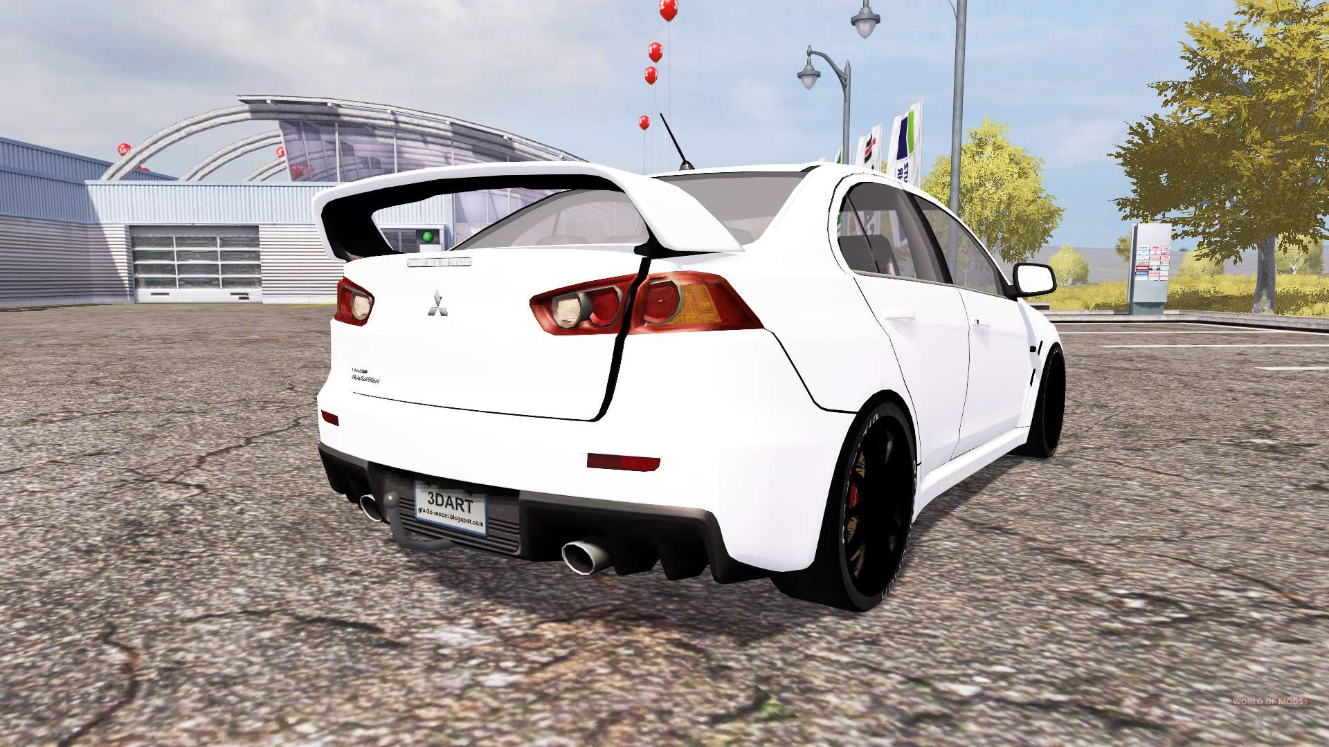 mitsubishi lancer evolution x v2 0 pour farming simulator 2013. Black Bedroom Furniture Sets. Home Design Ideas