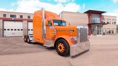 La peau d'Orange pour le camion Peterbilt 389 pour American Truck Simulator