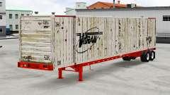 La semi-remorque-camion conteneur
