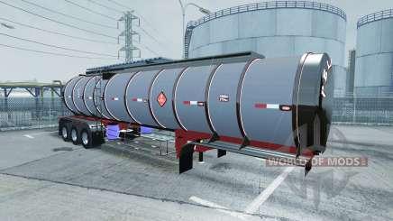 Chrome tanker 3-axle pour American Truck Simulator