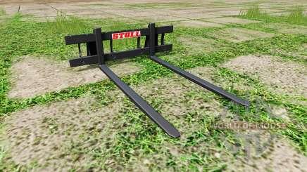 Stoll long pallet fork pour Farming Simulator 2017