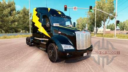 La peau des Étoiles et des Volts sur un Peterbilt 579 tracteur pour American Truck Simulator