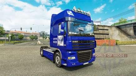 La peau de Poste de la Russie sur camion DAF XF pour Euro Truck Simulator 2
