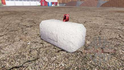 Concrete weight pour Farming Simulator 2015