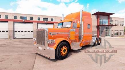 La peau d'Orange pour le camion Peterbilt 389 v1.1 pour American Truck Simulator