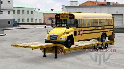 Bas de balayage avec la charge de bus pour American Truck Simulator
