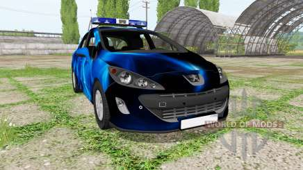 Peugeot 308 (T7) Police blue für Farming Simulator 2017