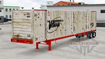 Auflieger-container-truck für American Truck Simulator