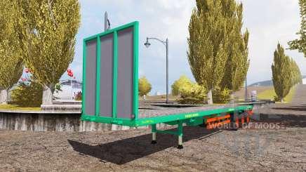 Aguas-Tenias bale semitrailer v2.5 pour Farming Simulator 2013