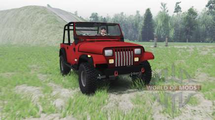 Jeep Wrangler (YJ) 1996 pour Spin Tires