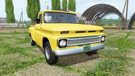 Chevrolet C10 Fleetside 1966 4x4 v1.1 pour Farming Simulator 2017