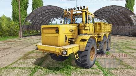 Kirovets K 701 6x6 camion à benne pour Farming Simulator 2017