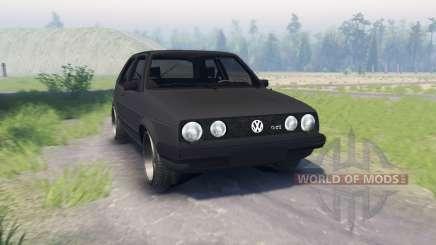 Volkswagen Golf II GTI pour Spin Tires