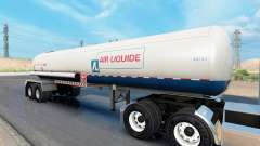 Real company tanker trailers pour American Truck Simulator