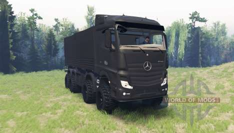 Mercedes-Benz Actros (MP4) chassis für Spin Tires