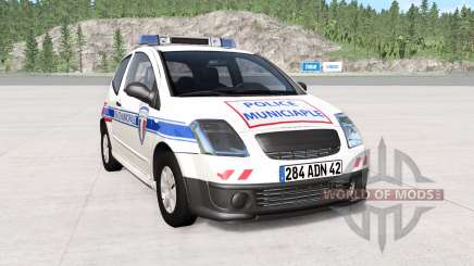 Citroen C2 police skins pack pour BeamNG Drive