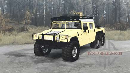 Hummer H1 Alpha 6x6 4-door convertible pour MudRunner