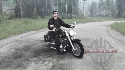 Harley-Davidson FLSTF Fat Boy für MudRunner