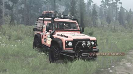 Land Rover Defender 90 Station Wagon expedition pour MudRunner
