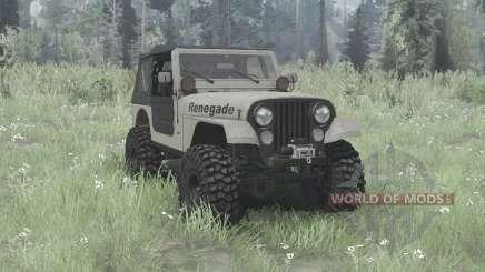 Jeep CJ-7 Renegade overland pour MudRunner
