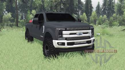 Ford F-350 Super Duty Crew Cab 2017 pour Spin Tires