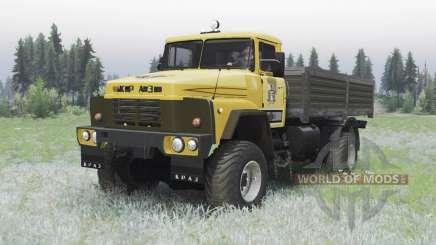 KrAZ 260 4x4 jaune pour Spin Tires