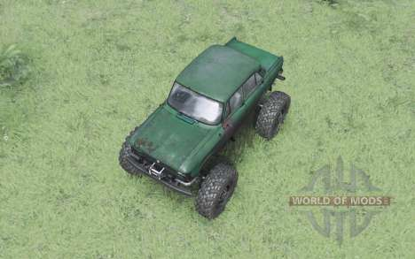 Moskvitch 412 monster truck pour Spin Tires