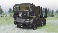 Tatra Phoenix T158-8P5 6x6 2011 black v1.2 pour Spin Tires