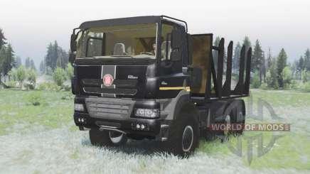Tatra Phoenix T158-8P5 6x6 2011 black v1.2 für Spin Tires