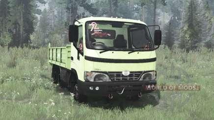Hino Dutro 2008 three-axle pour MudRunner