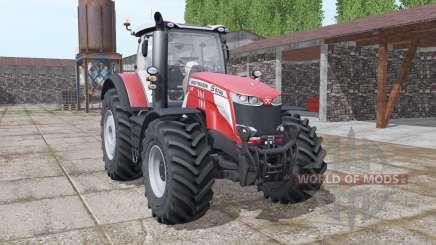 Massey Ferguson 8740 S More Realistic v1.1 pour Farming Simulator 2017