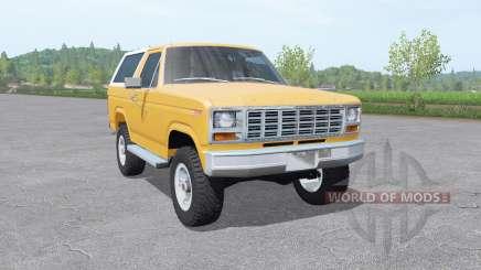 Ford Bronco XLT (U150) 1981 v1.3 pour Farming Simulator 2017