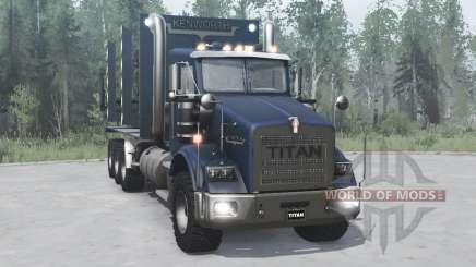 Kenworth T800 four-axle 2005 pour MudRunner