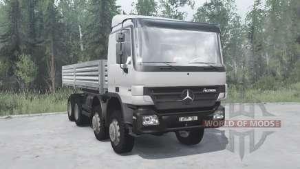 Mercedes-Benz Actros 4141 (MP2) 2003 v4.0 pour MudRunner