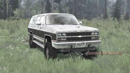 Chevrolet K1500 Suburban 1989 pour MudRunner
