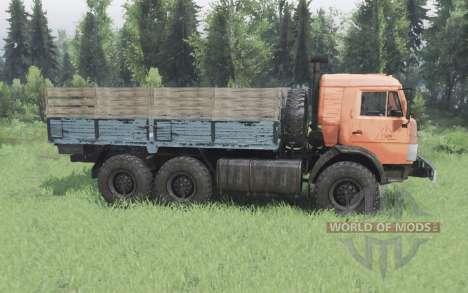 KamAZ 43114 orange v1.2 pour Spin Tires