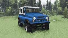UAZ 469 blau weiß für Spin Tires