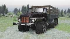 Ural 375 6x6 schwarz für Spin Tires