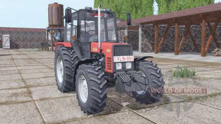 Belarus MTZ 892.2 weich-rot für Farming Simulator 2017