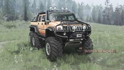 Hummer H2 SUT 6x6 v2.0 pour MudRunner