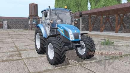 New Holland T4.75 blue pour Farming Simulator 2017