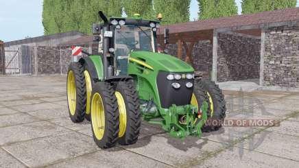 John Deere 7730 narrow double wheels pour Farming Simulator 2017