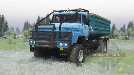 KrAZ 260 4x4 modérément-bleu pour Spin Tires