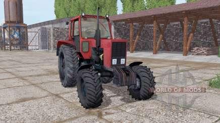 MTZ 82 Biélorussie doux-rouge pour Farming Simulator 2017
