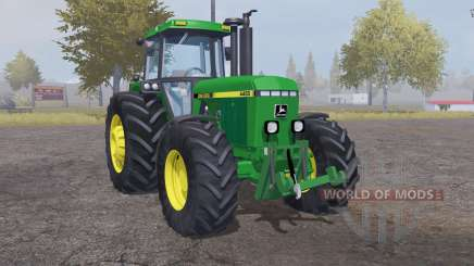 John Deere 4455 moderate lime green pour Farming Simulator 2013